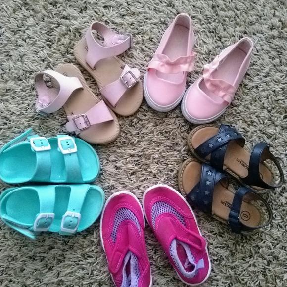 Cat /& Jack Toddler Girls Turquoise//Purple Water Shoes Fisherman size 11//12